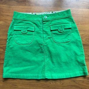 Gap green skirt size 12